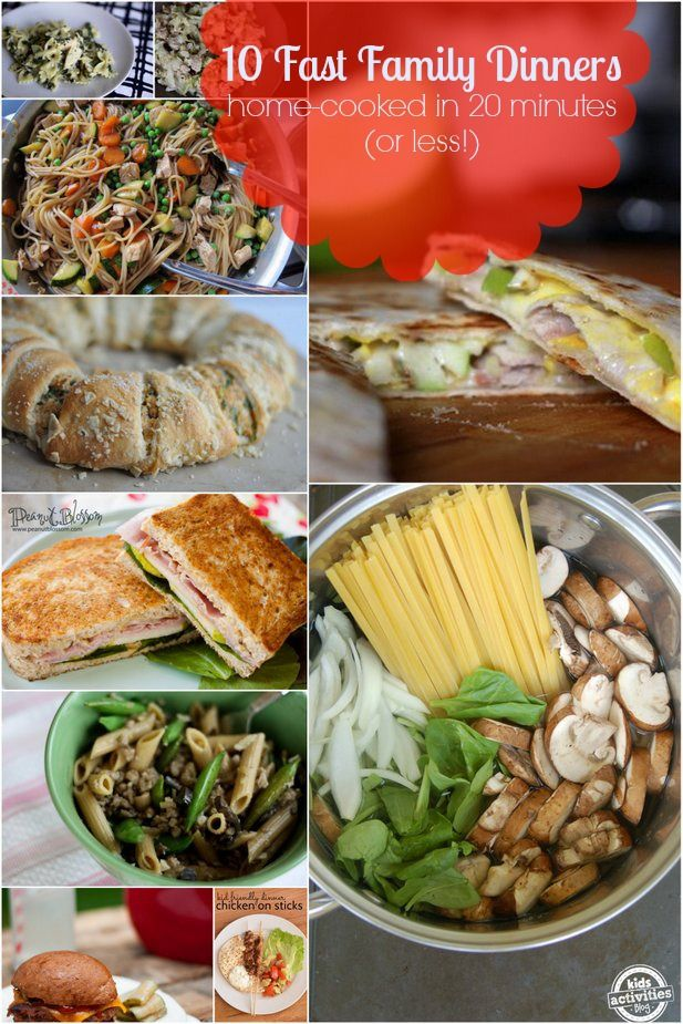 Fast family dinners your kids will love that are easy to make. So many great meal ideas at Kids Activities Blog.