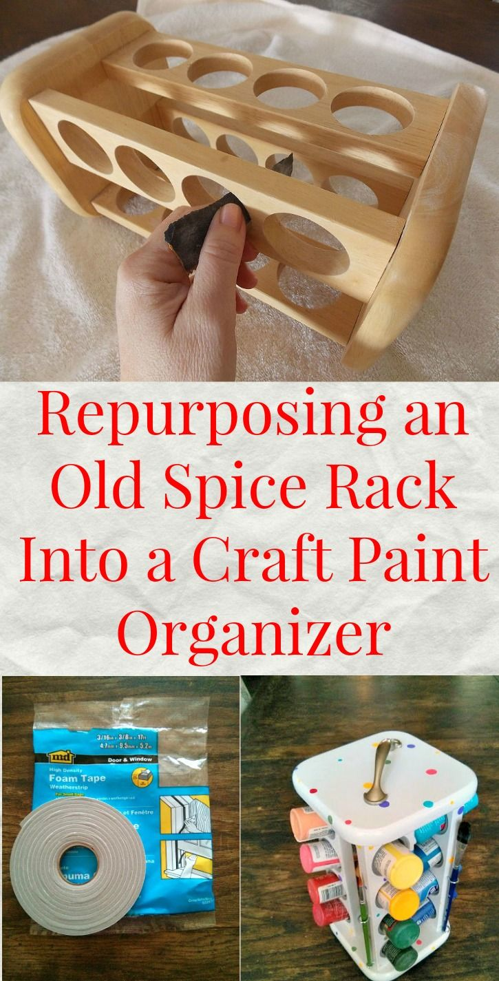 A brilliant storage idea for an old spice rack  Upcycling