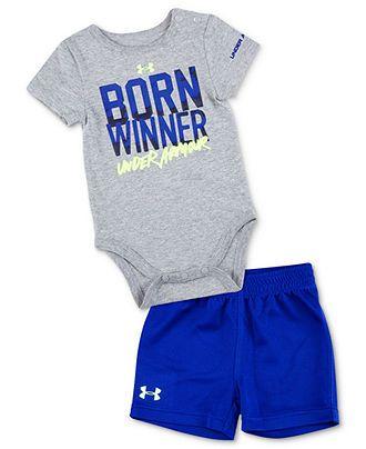 Under Armour Baby Set, Baby Boys 2-Piece Born Winner Bodysuit and Shorts - Kids Baby Boy (0-24 months) - Macy's