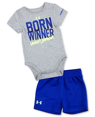 Under Armour Baby Set, Baby Boys 2-Piece Born Winner Bodysuit and Shorts