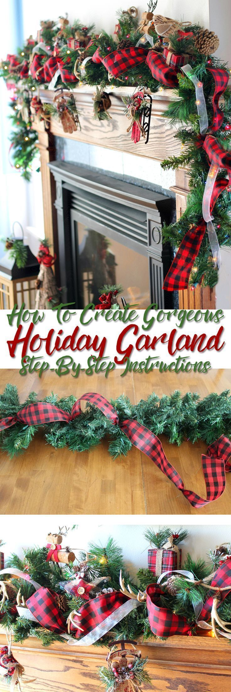 Step-by-step tutorial teaching you how to put together a stunning Christmas garland. So that's how the pros do it. Just in time for holiday decorating. This will look so good on my fireplace for Christmas!