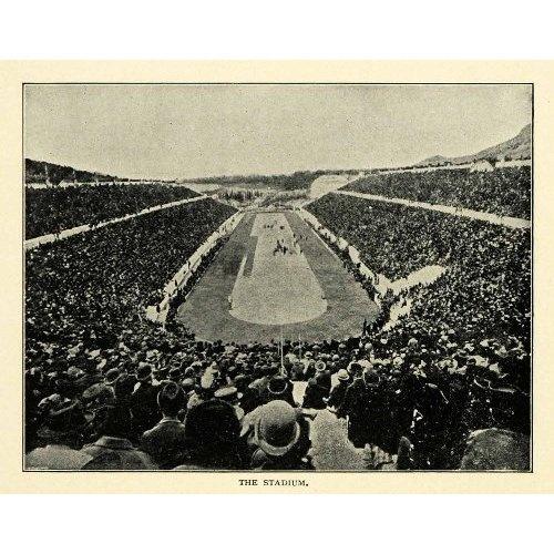 Amazon.com: 1901 Print Stadium Hills Agra Ardettos Ilissos River Lykourgos Herodes Atticus - Original Halftone Print: Home & Kitchen