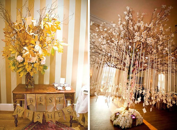 Cultural Wedding Traditions – Dutch Wish Tree. Guests are given a leaf to write a well-wishing message to the newlywed couple. #WW