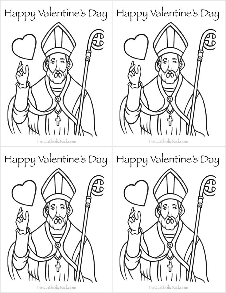 religious valentines day coloring pages - photo#35