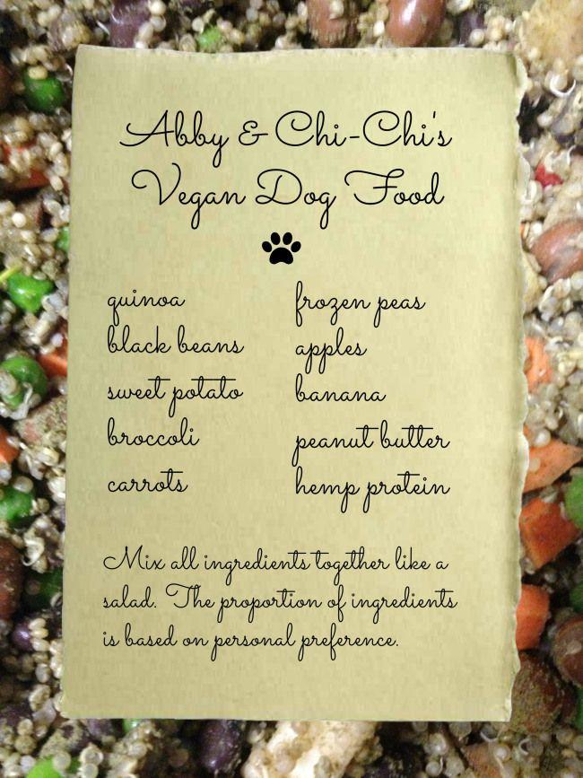 Abby & Chi-Chi's Vegan Dog Food