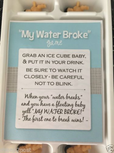 MY WATERS BROKE - BABY SHOWER GAME 14 Babies White LARGE Ice Cube Tray NEW