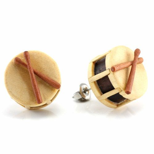 Drum (Snare) Studs. From the Urban Music Collection. Each drum is intricately hand carved out of a mixture of wood. There are many components