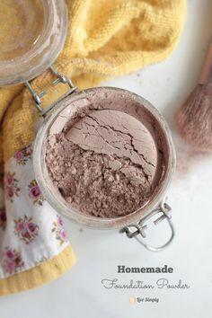 Homemade Foundation Powder Make-Up: