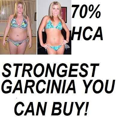 60 Garcinia Cambogia Extract 70% HCA Weight Loss Diet Pills Fat Burner Organic.. USD 2.56