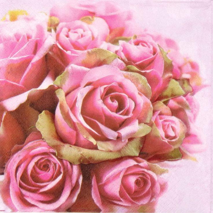 32 best Napkins-Roses images on Pinterest | Paper napkins, Craft ...