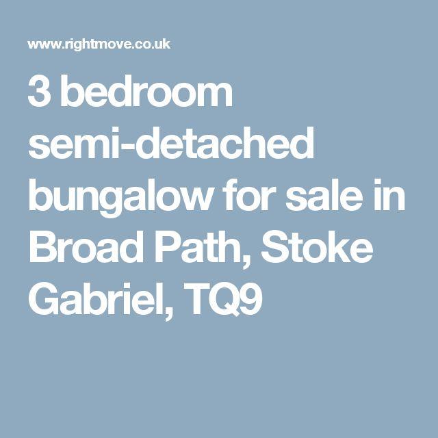 3 bedroom semi-detached bungalow for sale in Broad Path, Stoke Gabriel, TQ9