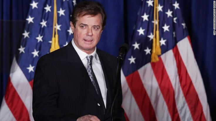 """WASHINGTON, DC - APRIL 27: Paul Manafort, advisor to Republican presidential candidate Donald Trump's campaign, checks the teleprompters before Trump's speech at the Mayflower Hotel April 27, 2016 in Washington, DC. A real estate billionaire and reality television star, Trump beat his GOP challengers by double digits in Tuesday's presidential primaries in Pennsylvania, Maryland, Deleware, Rhode Island and Connecticut. """"I consider myself the presumptive nominee, absolutely,"""" Trump told…"""