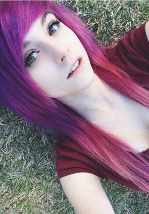 I dyed my hair purple! My parents are going to kill me though.- Alex