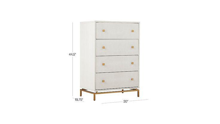 Best Ivory Shagreen Embossed Tall Chest Locker Storage Home 400 x 300