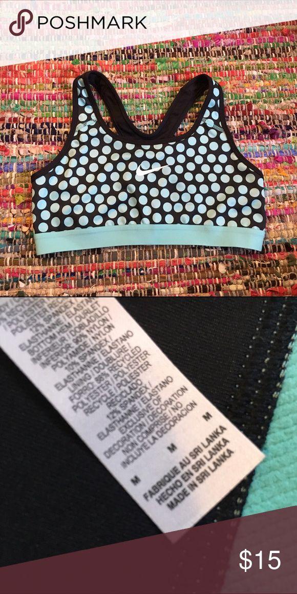 Nike polka dot sports bra Size medium like new condition worn once Nike Intimates & Sleepwear Bras