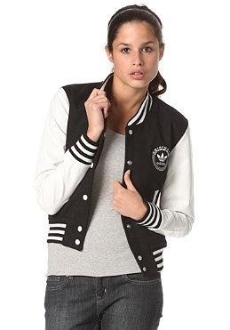 adidas college letterman jacket jacket for women black. Black Bedroom Furniture Sets. Home Design Ideas