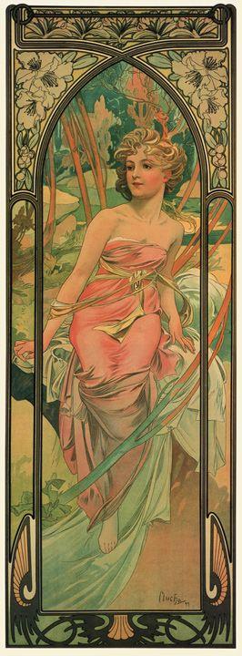 The Times of Day: Morning Awakening, by Alphonse Mucha, 1899