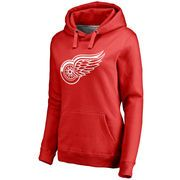 Women's Detroit Red Wings Red Primary Logo Fleece Pullover Hoodie