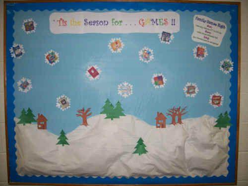 Snow Scene Door Or Bulletin Board