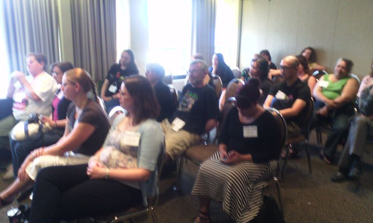 Part of the attentive audience at the Five Rivers launch readings, at WWC, Aug 2014.