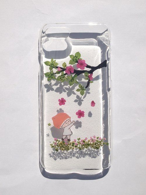 Annys workshop,Pressed Flower Phone Cases, iPhone 7 and iPhone 8, plum flower