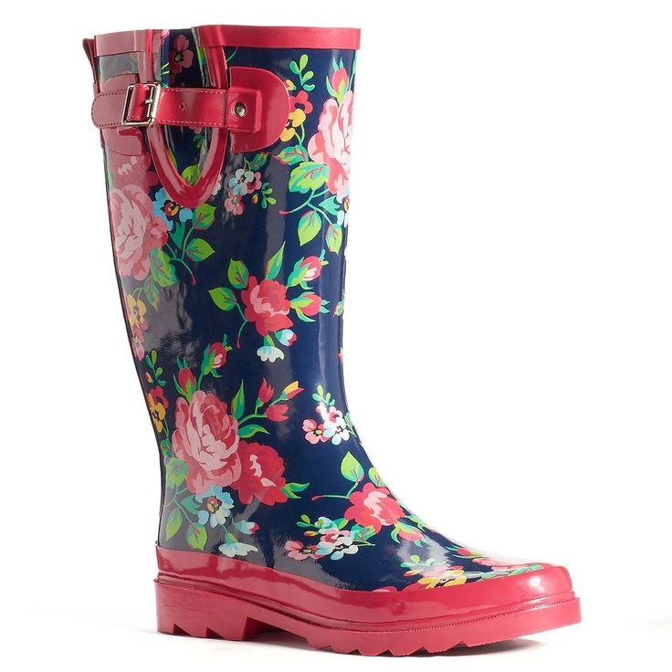 Western Chief Women's Mid-Calf Water-Resistant Rain Boots, Size: 9, Med Blue