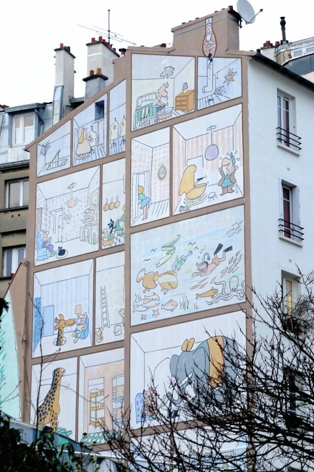Paris 20 - rue des plâtrières - vingtième théâtre - street art