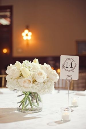 White Rose Tulip and Hydrangea Arrangement | photography by http://jnicholsphoto.com/ | floral design by http://www.lastpetal.com/ | event planning by http://somethingtocelebrate.com/