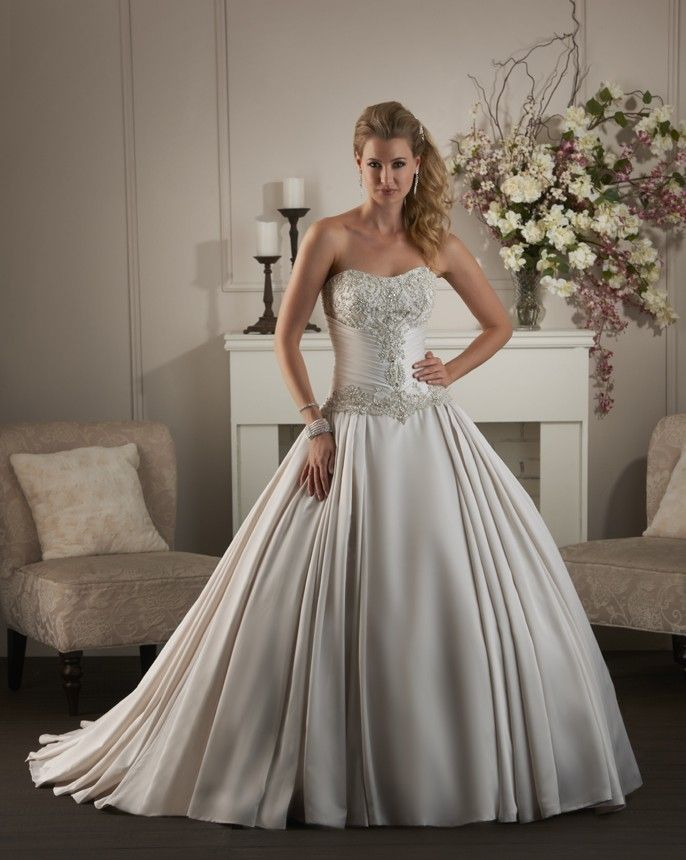 30 best satin wedding gowns images on Pinterest | Wedding dressses ...