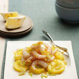 Insalata di gamberi, patate e bottarga - Scuola di cucina | Donna Moderna