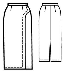 free wrap skirt pattern sewing | Home / Women / Skirts / #5024 Straight skirt with decorative wrap
