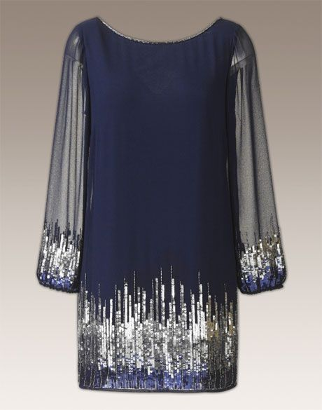Joanna Hope Ombre Sequin Tunic  $139
