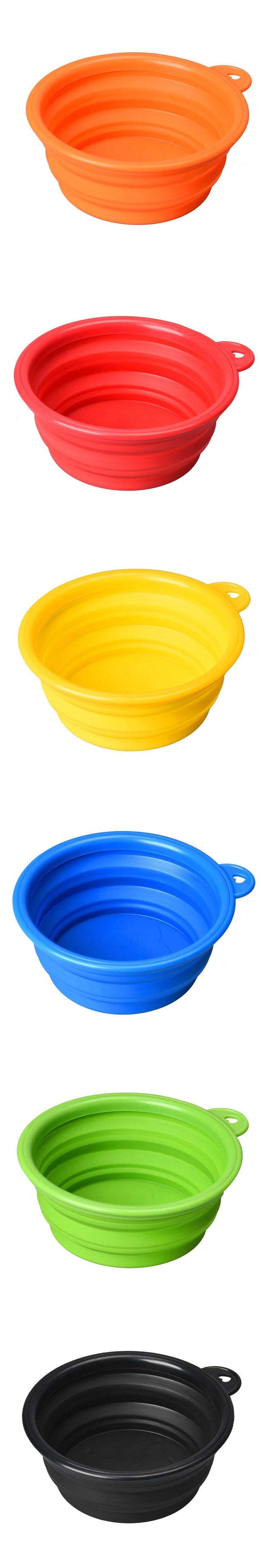 Top Grand Dog Bowl Cat Pet Silicone Collapsible Travel Feeding Bowl Water Dish Feeder  Dropship #J01