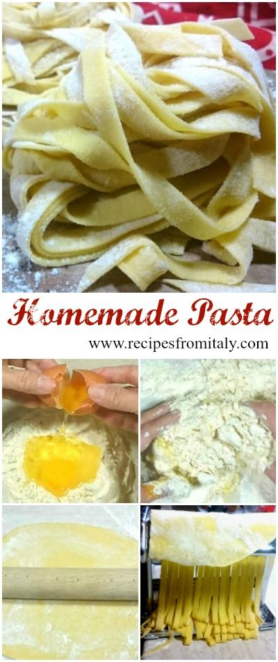 Homemade Pasta, cappelletti, ravioli, lasagna, pappardelle, tagliolini, tagliatelle, agnolotti… They are all Italian types of pasta made with fresh eggs and flour.