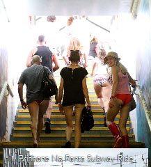 Brisbane No Pants Subway Ride