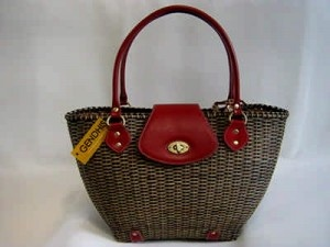 Eco Friendly Dark Brown Julia Rattan Handbag for Women Fashion Accessories by Gendhis Natural Bag