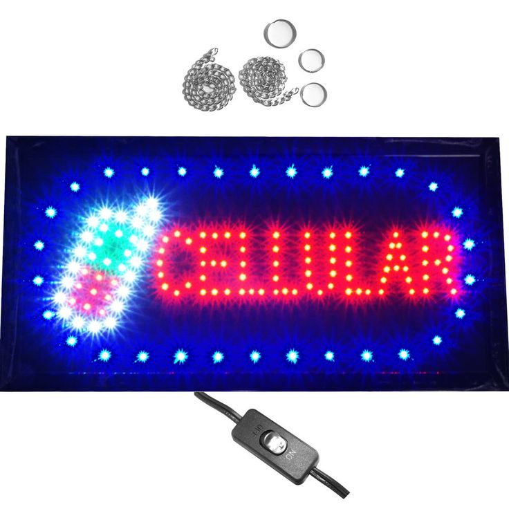 Bright Animated Cellular Mobile Cell Phone Store Repair Shop LED Open Sign 19x10 #AhhaProducts