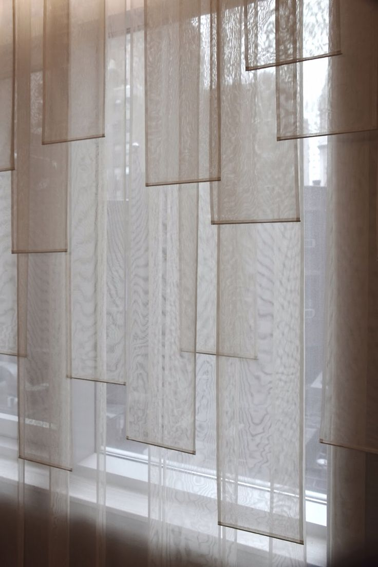 """Curtain Otaku: """"Falling Banners....  amazing fractured shading was selected as a treatment to offer privacy and light diffusion..."""