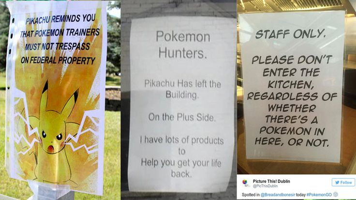 Ten Sincere Pokemon GO Signs from Individuals and Businesses