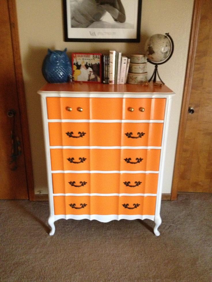 My super orange dresser