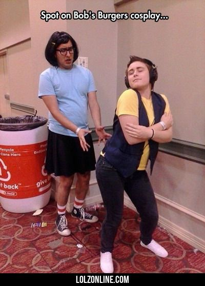 Spot On Bob's Burgers Cosplay...#funny #lol #lolzonline