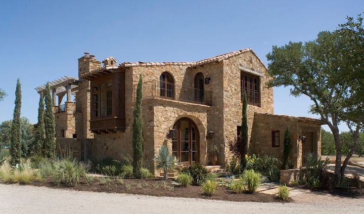 Mediterranean tuscan style home house mediterranean for Tuscan home plans with casitas