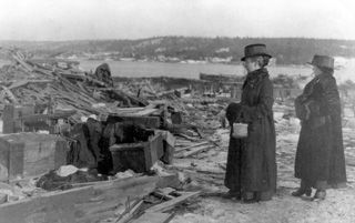 Photos following the Halifax Explosion    http://www.MervEdinger.com