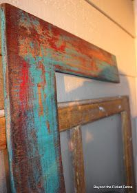 How To Get A Layered, Vintage Looking Paint Finish - this is an awesome, layered paint finish using a mixture of paint, wax, soap, salt, stain and water.