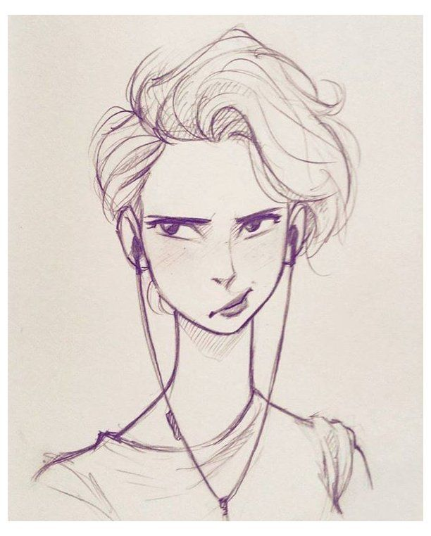 Short Hair Drawing : short, drawing