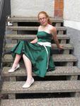 Green party dress, made summer 2008