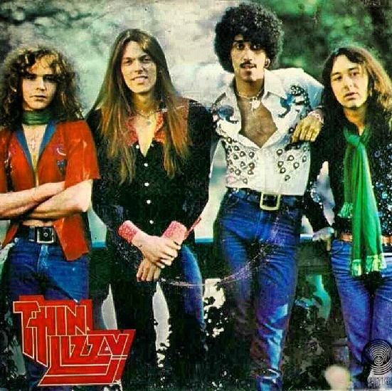 Thin Lizzy with Brian Robertson, Scott Gorham, Phil Lynott and Brian Downey