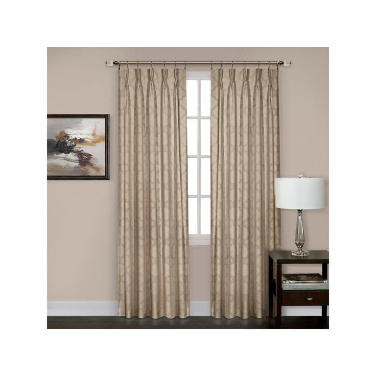 "Windsor Pinch Pleat Curtain Panel- Camel (34"" x 63"")"