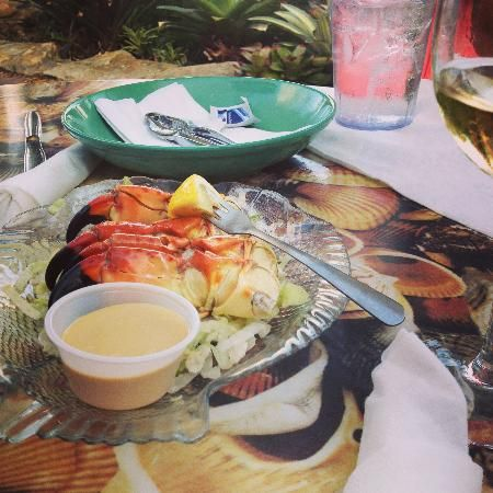 Fresh Stone Crabs at Mrs. Mac's Kitchens (Ranked #1 of restaurants in Key Largo on TripAdvisor)
