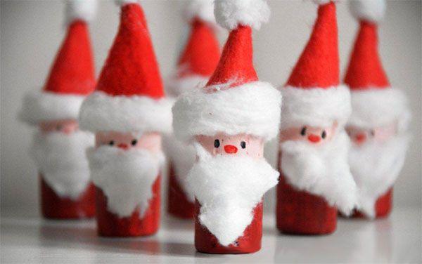 Lavoretto Babbo Natale Tappi Sughero